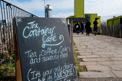 The Container Cafe on Greenway, London, United Kingdom