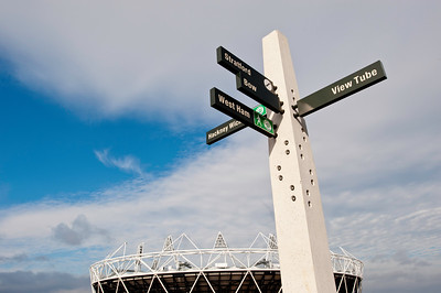 Olympic Park seen from Greenway, London, United Kingdom