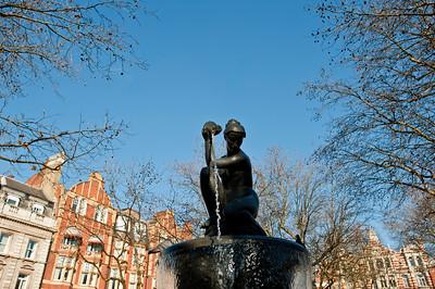 Fountain on Sloane Square, London, United Kingdom