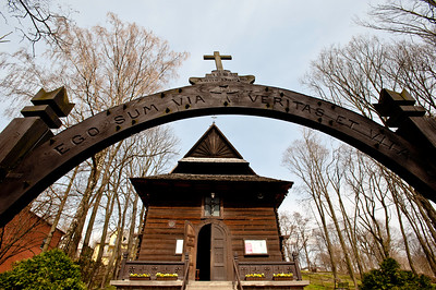 Wooden church in Naleczow, Poland