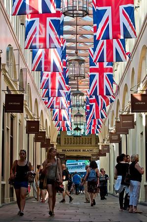 Shopping arcade, Covent Garden, London, United Kingdom