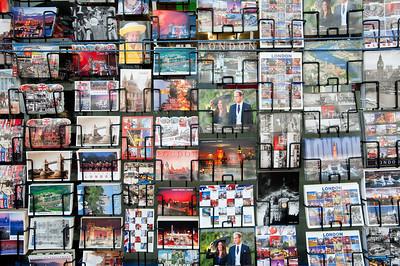 Postards on sale, London, United Kingdom