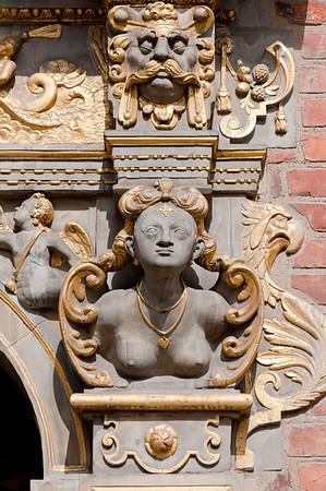 Facade detail, Old Town, Gdansk, Poland