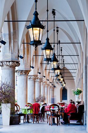 Arches of Cloth Hall, Sukiennice, Cracow, Poland