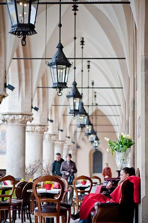 Restaurant bar by Sukiennice, Cracow, Poland