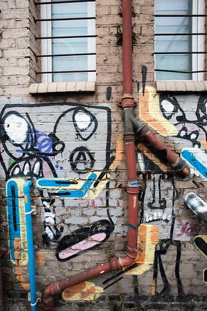 Graffiti on the wall, Hackney Wick, London, United Kingdom