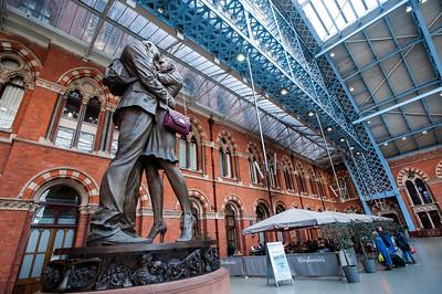 St Pancras Railway Station, Kings Cross area, London, United Kingdom