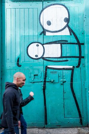 Graffiti on the wall, Pitfield Street, London, United Kingdom