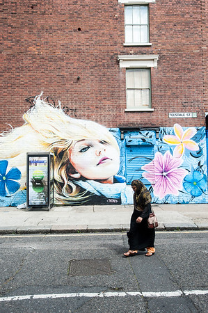 Mural by Old Ford Road, HAckney, EAst London, London, United Kingdom