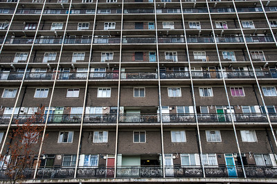 Council estate on Old Ford Road, Hackney, London, United Kingdom
