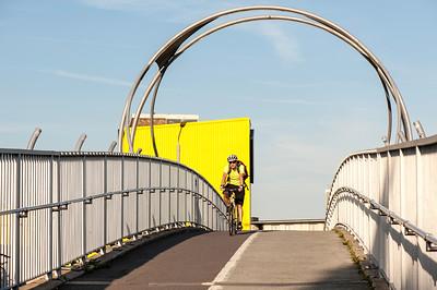 Footbridge along Old Ford Road, Hackney, London, United Kingdom