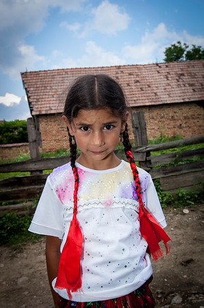 Europe, Romania, Transylvania, Gipsy wedding in the village of Scoreiu near Fagaras; people in traditional dress attending the party
