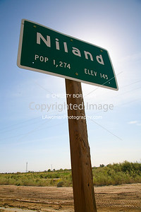 Niland, CA.  Population 1,274