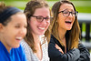 Dental School students on the Harriman Quad in late summer. <br /> <br /> Photographer: Douglas Levere