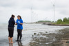 UB researchers investigating potential Lake Erie pollution sources at Woodlawn Beach.<br /> <br /> Photographer: The Onion Studio