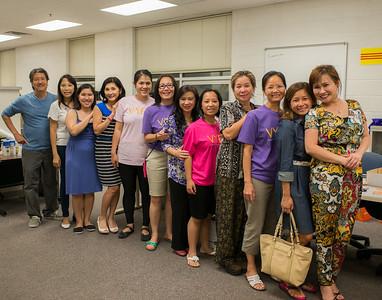In the VYEA Summer School Office 8/5/2105 Thầy Thành, , TA Karen, Christine Hồng, Kim Cương, Hàn Ni, cô Nhất Anh, Moon Nguyệt, , , Thùy Trâm, cô Monica