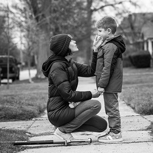 Mother and Child Editorial Portrait