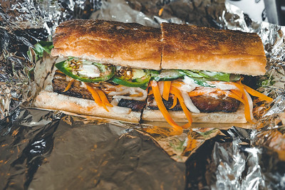 Barbecued Pork Belly - BANH MI SANDWICHES from Les Banh Amis
