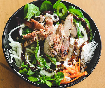 Lemongrass Grilled Chicken Banh Mi Bowl from Les Banh Amis