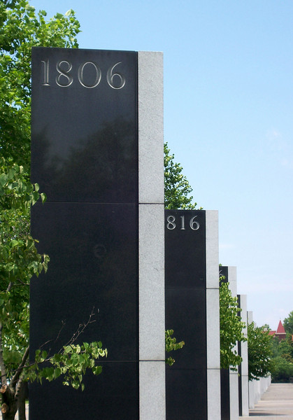 """A granite marker represents each 10-year period of Tennessee's first 200 years. The markers are opposite the Pathway of History, a  1,400-foot wall is engraved with historic events that occurred in the state's first 200 years.<br /> <br /> The Bicentennial Mall stretches 19 acres, connecting the Tennessee Capitol Building and the Germantown Historic District. The pedestrian mall opened in 1996, to commemorate the 200th anniversary of the state of Tennessee.<br /> <br /> Fashioned after the National Mall in Washington, DC, the park celebrates the state's history, recreational attractions, and natural wonder. The Bicentennial Mall offers a number of attractions, including a 1,400-foot Wall of History etched with historic events from the state's first two centuries, 31 fountains that each represent one of the state's rivers, and a 200-foot granite state map. <br /> <br /> The mall also preserves the only remaining view of the Capitol -- from the north side -- as a building boom in the late 1950s and early 1960s blocked the sight of the building from the east, west, and south sides of the city.<br /> <br /> The project was awarded TE funds (under Category 1) in 1994 for construction of the Bicentennial Mall. Federal Award: $23,250,000; Local Match: $5,812,000; Total: $29,062,000<br /> <br /> To learn more about the Bicentennial Mall visit  <a href=""""http://www.tennessee.gov/environment/parks/Bicentennial/index.shtml"""">http://www.tennessee.gov/environment/parks/Bicentennial/index.shtml</a>"""