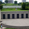 "The amphitheater (and the railroad trestle is seen behind it).<br /> <br /> The Bicentennial Mall stretches 19 acres, connecting the Tennessee Capitol Building and the Germantown Historic District. The pedestrian mall opened in 1996, to commemorate the 200th anniversary of the state of Tennessee.<br /> <br /> Fashioned after the National Mall in Washington, DC, the park celebrates the state's history, recreational attractions, and natural wonder. The Bicentennial Mall offers a number of attractions, including a 1,400-foot Wall of History etched with historic events from the state's first two centuries, 31 fountains that each represent one of the state's rivers, and a 200-foot granite state map. <br /> <br /> The mall also preserves the only remaining view of the Capitol -- from the north side -- as a building boom in the late 1950s and early 1960s blocked the sight of the building from the east, west, and south sides of the city.<br /> <br /> The project was awarded TE funds (under Category 1) in 1994 for construction of the Bicentennial Mall. Federal Award: $23,250,000; Local Match: $5,812,000; Total: $29,062,000<br /> <br /> To learn more about the Bicentennial Mall visit  <a href=""http://www.tennessee.gov/environment/parks/Bicentennial/index.shtml"">http://www.tennessee.gov/environment/parks/Bicentennial/index.shtml</a>"