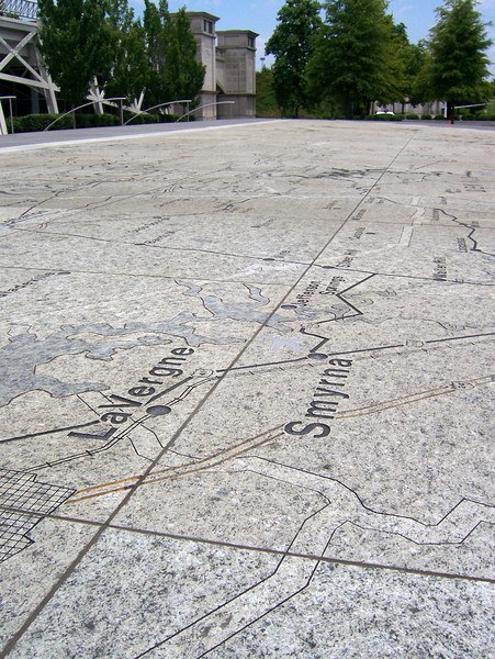 "The Tennessee Map Plaza. The 200-foot granite map highlights the state's major roads, 95 counties, rivers, interesting geographic formations and details of each county. The map is designed to scale -- 12 inches is equal to 2.5 miles.<br /> <br /> The Bicentennial Mall stretches 19 acres, connecting the Tennessee Capitol Building and the Germantown Historic District. The pedestrian mall opened in 1996, to commemorate the 200th anniversary of the state of Tennessee.<br /> <br /> Fashioned after the National Mall in Washington, DC, the park celebrates the state's history, recreational attractions, and natural wonder. The Bicentennial Mall offers a number of attractions, including a 1,400-foot Wall of History etched with historic events from the state's first two centuries, 31 fountains that each represent one of the state's rivers, and a 200-foot granite state map.<br /> <br /> The mall also preserves the only remaining view of the Capitol -- from the north side -- as a building boom in the late 1950s and early 1960s blocked the sight of the building from the east, west, and south sides of the city.<br /> <br /> The project was awarded TE funds (under Category 1) in 1994 for construction of the Bicentennial Mall. Federal Award: $23,250,000; Local Match: $5,812,000; Total: $29,062,000<br /> <br /> To learn more about the Bicentennial Mall visit  <a href=""http://www.tennessee.gov/environment/parks/Bicentennial/index.shtml"">http://www.tennessee.gov/environment/parks/Bicentennial/index.shtml</a>"