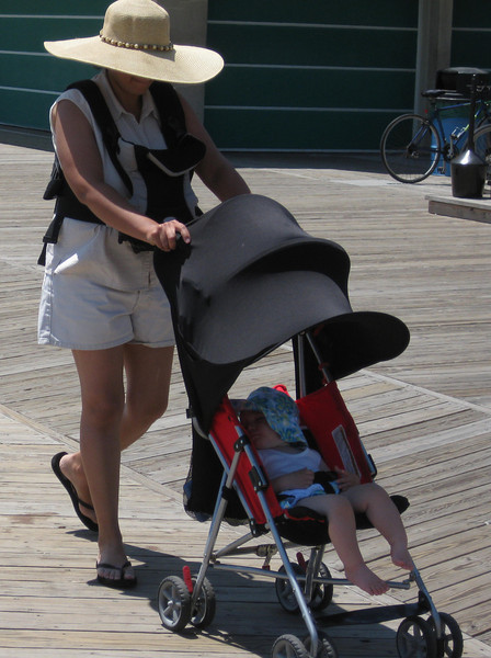 Pedestrians of all ages use the reconstructed Rehoboth Beach boardwalk.