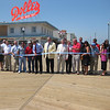 A ribbon-cutting ceremony for the new boardwalk was held on Friday, June 11, 2010.  In attendance were local, state, and federal officials, as well as workers from the project and local business owners.