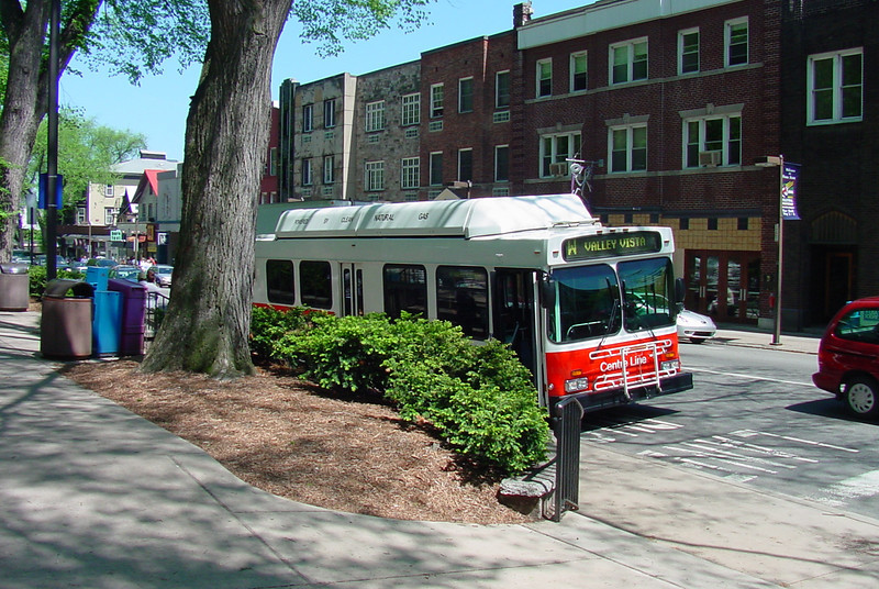 """In 1993, a $24,000 TE grant installed bike racks on all buses in the Centre Area Transportation Authority (CATA) fleet.  The CATA system handles over six million rides per year, for seven separate townships and two boroughs, including State College (home of Pennsylvania State University). The bike racks allow nonmotorized travelers to conveniently reach bus stops from greater distances, expanding the number of origins and destinations served by the system without costly service increases.<br /> <br /> TE funds have been used to install bike racks for dozens of transit agencies across the US.  These popular low-cost projects make it easier for nonmotorized travelers to use transit.  42 similar bike-on-bus projects have been accomplished with TE funds in 17 states since 1992.<br /> <br /> See the bike racks in action in a brief instructional video on the CATA website: <a href=""""http://catabus.com/HowToVideos/BikeRacks/index.html"""">http://catabus.com/HowToVideos/BikeRacks/index.html</a>#"""