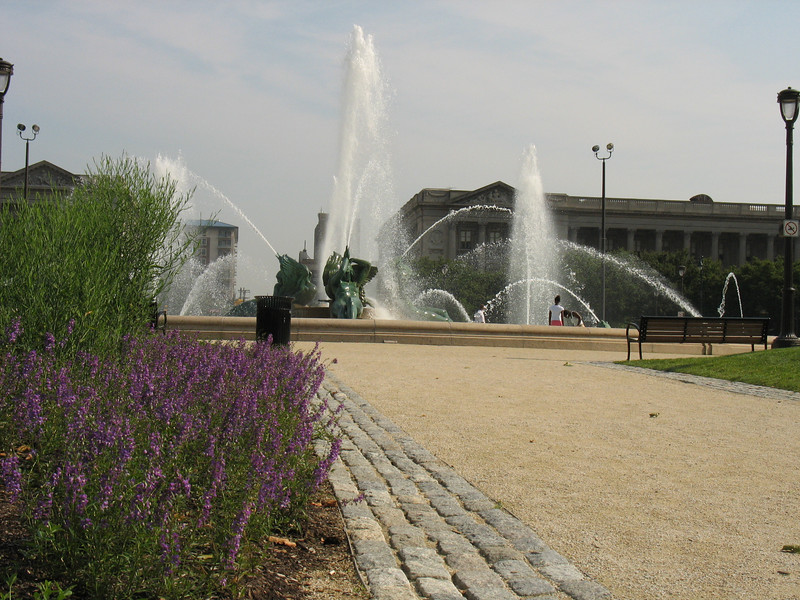 In 1993, $1,689,000 in federal TE funds with a $422,000 local match helped construct pedestrian and bike path improvements along Logan Circle in Philadelphia, PA.<br /> <br /> Logan Circle is one of Philadephia's original planned squares, and is the anchor of the Logan Square neighborhood. The stunning Swann Memorial Fountain is located in the center of the square. Thanks to TE, this historic amenity is now accessible to pedestrians, rather than sealed off from the public by a ring of moving cars.
