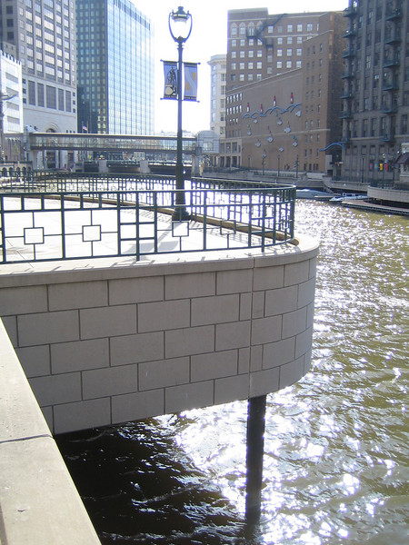 Riverwalk between East Wells and East Mason streets in downtown Milwaukee, WI. Federal Funds: $336,000; Local Match: $84,000; Total: $420,000