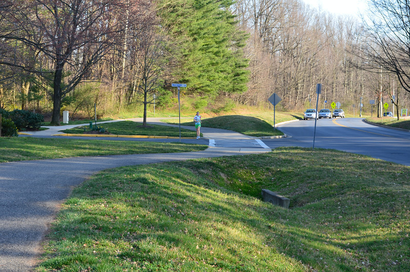 The Millennium Trail is a 10-foot wide shared use path that follows a 10.6-mile loop around Rockville.  The Trail is within two miles (typical bicycling distance) of all neighborhoods in the City.<br /> <br /> The Millennium Trail was recommended in the 1998 Rockville Bikeway Master Plan.  Design and construction of the Trail was funded by three Transportation Enhancement grants. In total, $2.07 million in Federal funding was matched by $2.16 million in local funding from local sources. The 8-10 foot wide trail provides a safe way to travel around the City of Rockville which is bypassed by the multi-lane highway, I-270. The trail is a critical link between schools, neighborhoods, and businesses.<br /> <br /> The project addressed many of the dangers of bicycling in a populated area. The funding helped to replace sidewalks, curbs, and gutters while also add ADA accessible crosswalks. In addition to this, landscaping along the trail was conducted and way finding and bicycle safety signs were added. Lastly, storm water management issues due to the trails construction were addressed.