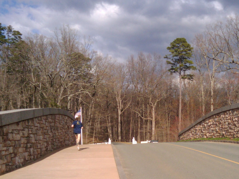 """The Saunders Bridge is a stone arch bridge that crosses Route 53. It was designed by a local firm, Rieley and Associates, and is said to be the realization of one of Thomas Jefferson's plans for the development of his property.   The Thomas Jefferson Parkway (Route 53), part of the <a href=""""http://www.byways.org/explore/byways/2343/directions.html"""">Journey Through Hallowed Ground Byway</a>, serves as the scenic entrance to Monticello in Albermarle County, Virginia.  Developed by the Thomas Jefferson Foundation, the Parkway improvement project was a $6.5 million project that took place between 1996 and 2002 and involved the development of the <a href=""""http://www.monticello.org/parkway/trail.html""""> Saunders-Monticello Trail</a>, an <a href=""""http://www.monticello.org/parkway/arboretum.html"""">arboretum</a>, a 2-acre <a href=""""http://www.monticello.org/parkway/pond.html"""">pond</a>, and the <a href=""""http://www.monticello.org/parkway/bridge.html"""">Saunders Bridge</a>.  A $3.4 million TE grant, procured in 1992, along with private donations in the amount of $3.1 million provided funding for the Thomas Jefferson Parkway improvements."""