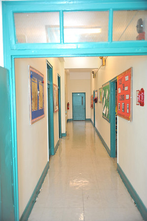 the hallway to our middle and upper school located on the second floor of the main building
