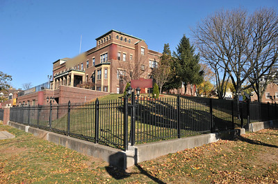view of the school from the corner street