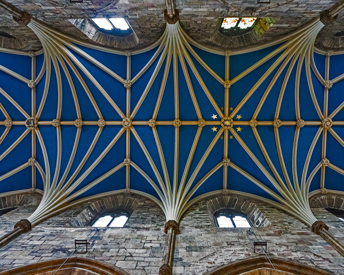 The totally awesome ceiling of St Giles Cathedral, Scotland