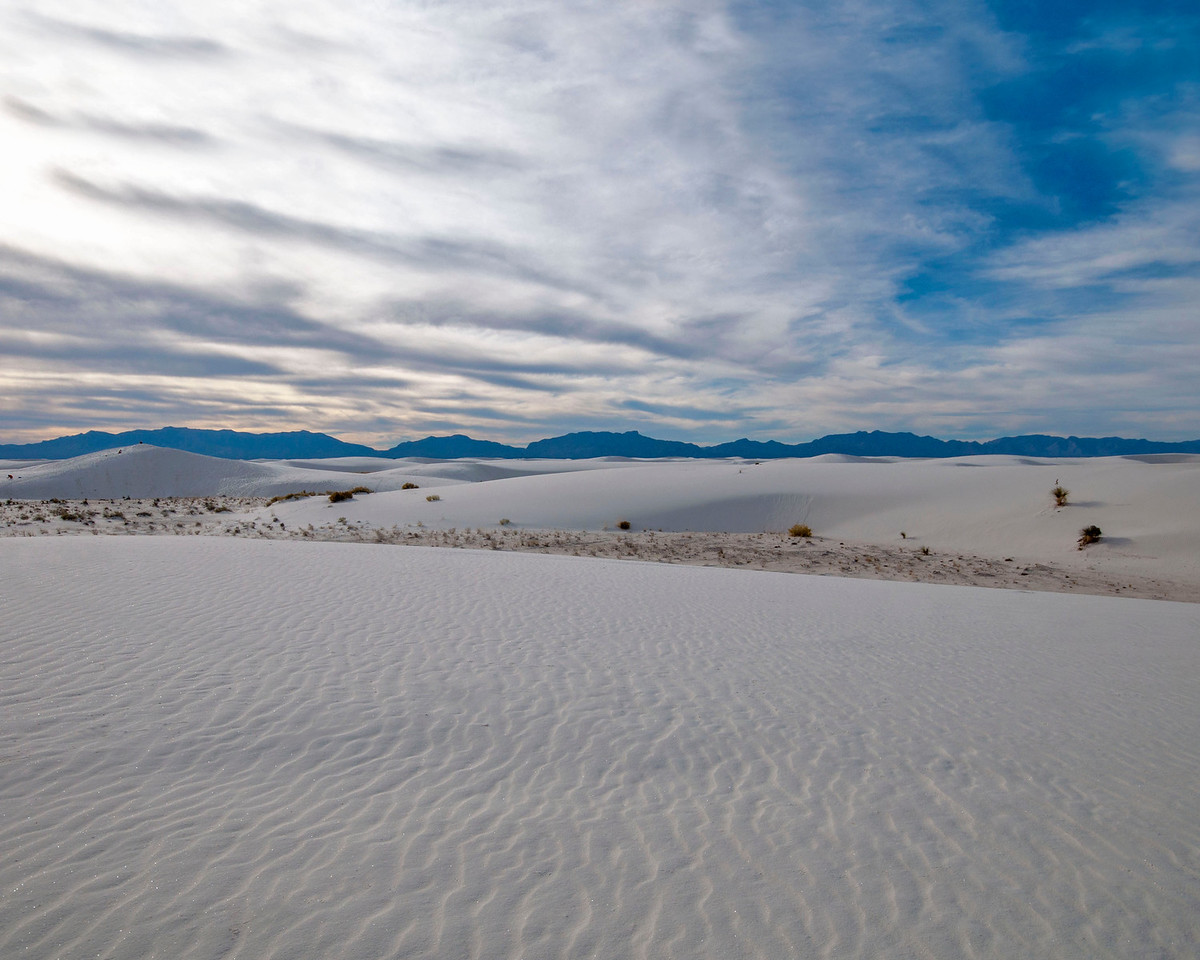 Waves of gypsum sand at White Sands National Monument, NM