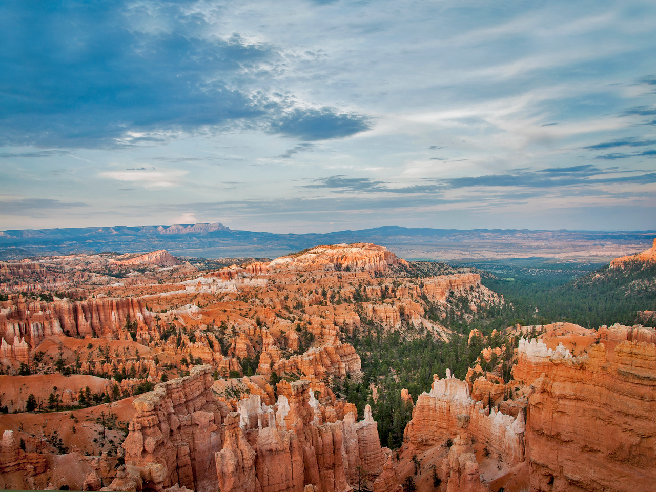 The erosion in Bryce Canyon