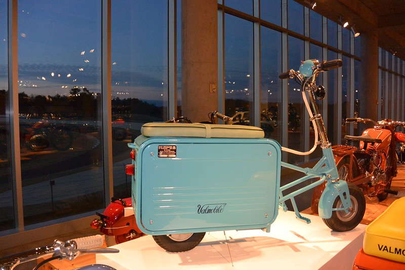 Seriously this is two of my loves in one-vintage suitcases and motorcycles!