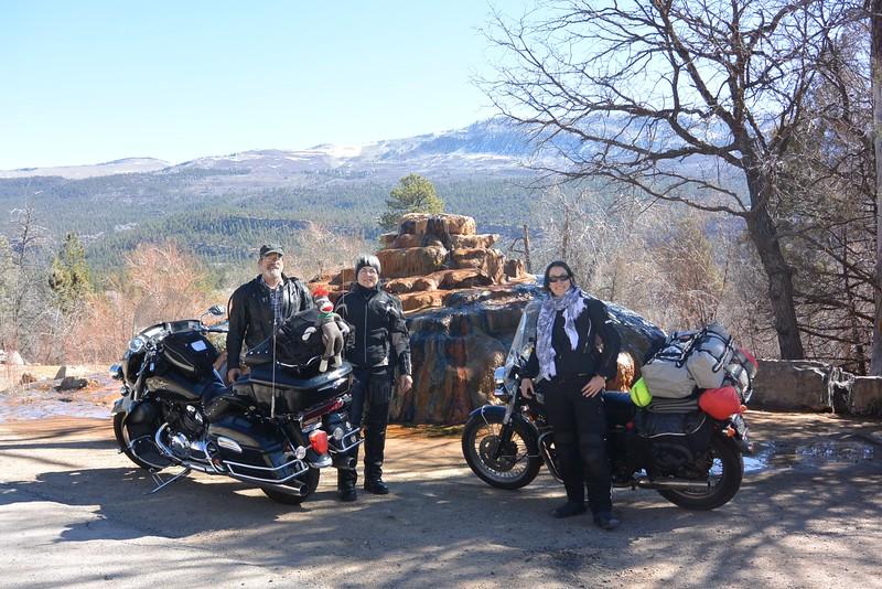 Riding with mom and dad through Colorado!