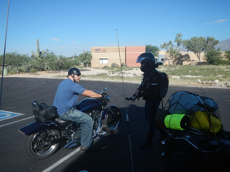 Was a short ride and quick goodbye - off to the desert ride and on to Ajo, AZ