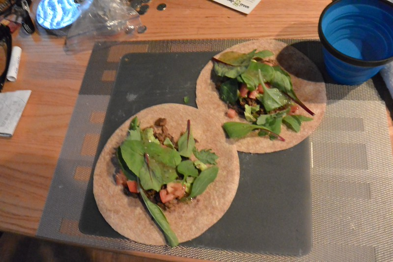fresh tomatoes, avocado, spinach..and taco time