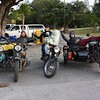 Riding through the Keys with Fred and Pascal -of the Lone-Rider Moto tents