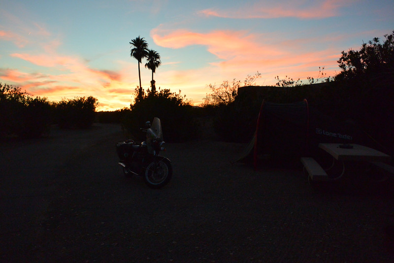 Sunset at Lake Mead campsite just $10 a night!