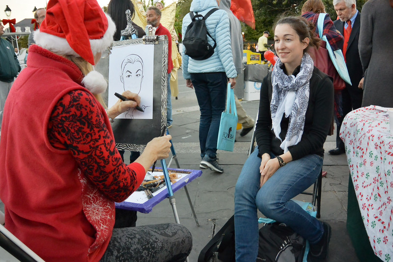 so fun, part of the festivities was caricature drawing - she did a great one of me and my big adventures