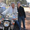 In the 70's Ted Simon traveled around the world on a Triumph and now having him sit on Amelia, and me beside as a Jupiter's Traveller of his foundation - so honored