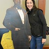 a cardboard cut out of Marlon Brando...it makes its rounds to different offices...definitely a neat group of employees - seem to have a lot of fun here!