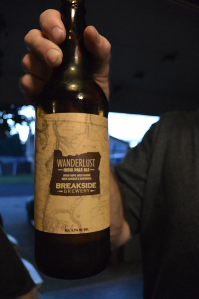 Visit with my brother in Tacoma, he had a special beer waiting