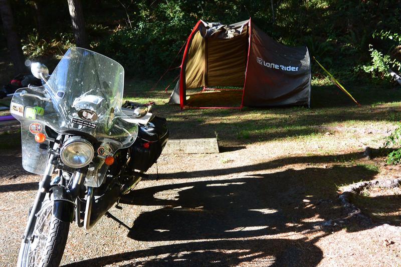 State park campsite in oregon