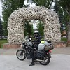 one of the arches at Jackson Hole town square